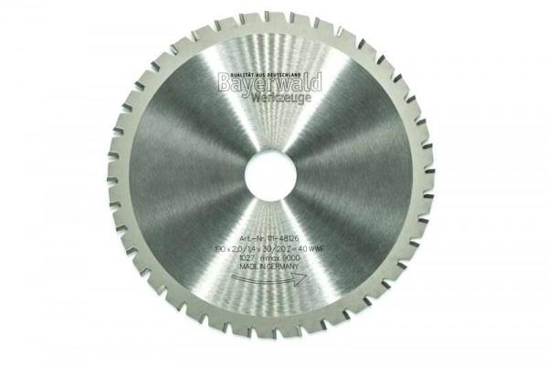 HM Multifunktions-Kreissägeblatt - Ø 190 mm x 2,0 mm x 30/20 mm | Z=40 WWF