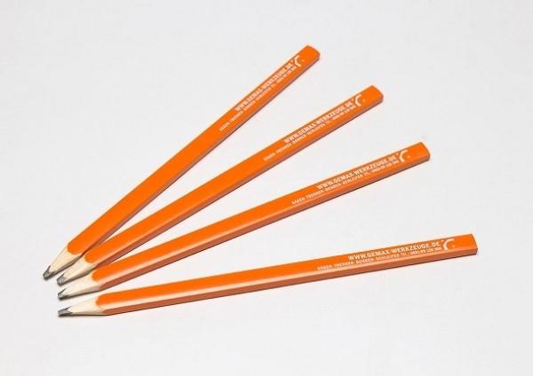 Zimmermannsbleistift orange/angespitzt