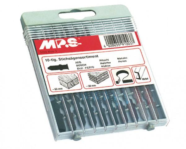 MPS Stichsägeblatt-Set für Holz & Metall (10 teilig) - T-Schaft