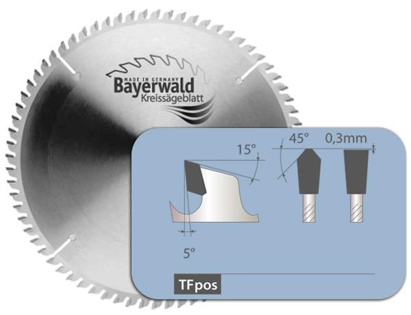 HM Kreissägeblatt - Ø 160 mm x 1,8 mm x 20 mm   Z=48 TF positiv