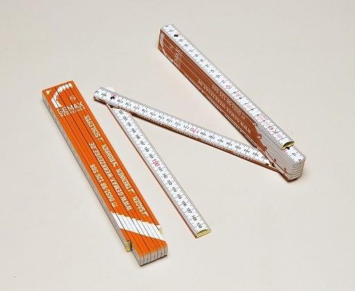 Gliedermaßstab (Zollstock) 2m / weiß