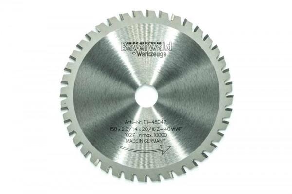 HM Multifunktions-Kreissägeblatt - Ø 150 mm x 2,0 mm x 20/16 mm | Z=40 WWF