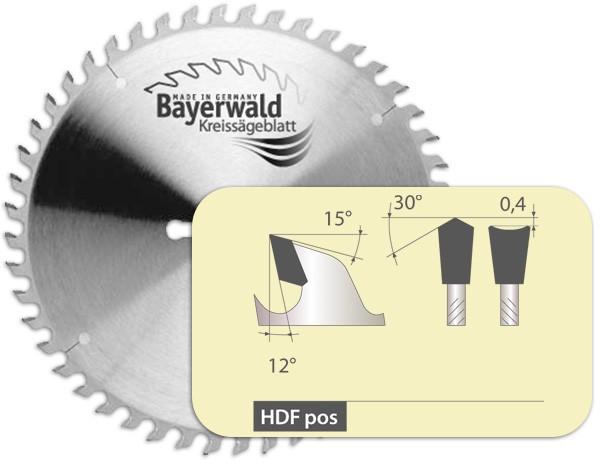 HM Präzision Fertigschnitt - HDF positiv