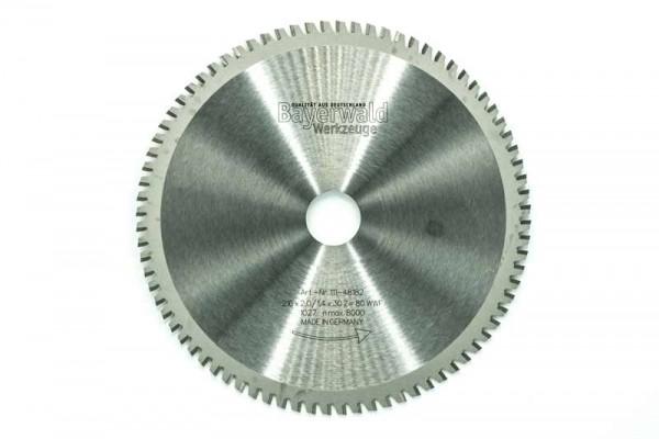 HM Multifunktions-Kreissägeblatt - Ø 216 mm x 2,0 mm x 30 mm | Z=80 WWF