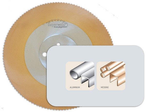 HSS-Sägeblatt für Aluminium, Kupfer & Messing