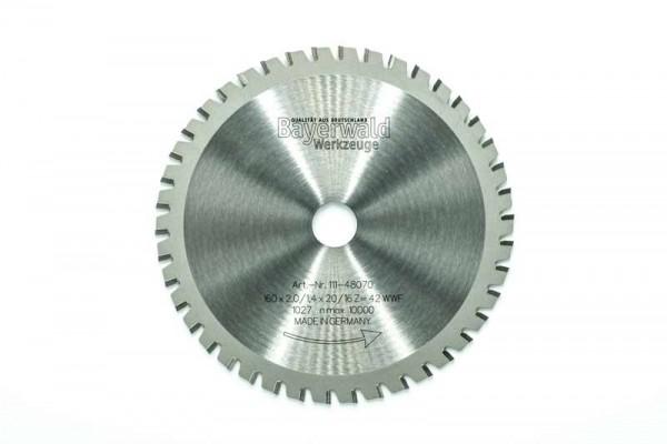 HM Multifunktions-Kreissägeblatt - Ø 160 mm x 2,0 mm x 20/16 mm | Z=42 WWF
