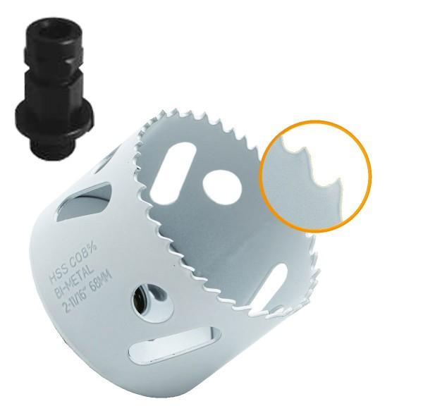 Profi HSS Bi-Metall M42 (8% Cobalt) Lochsäge + Adapter