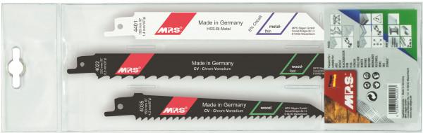 MPS 3tlg. Säbelsägeblatt-Sortiment (Universalschaft)