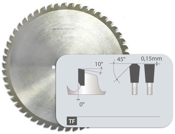 HM Dry Cuttter Edelstahl - Zahnform Trapez Flachzahn