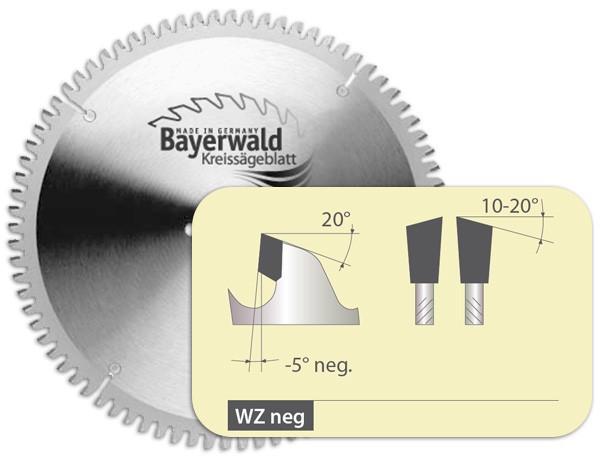 HM Kreissägeblatt - Ø 250 mm x 3,0 mm x 32 mm | WZ negativ (80 Zähne)